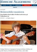 Jüdische Allgemeine, 09.06.2011: Meisterschüler musizieren