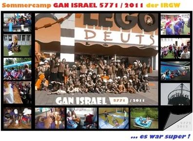 Sommercamp GAN ISRAEL 5771 / 2011 der IRGW