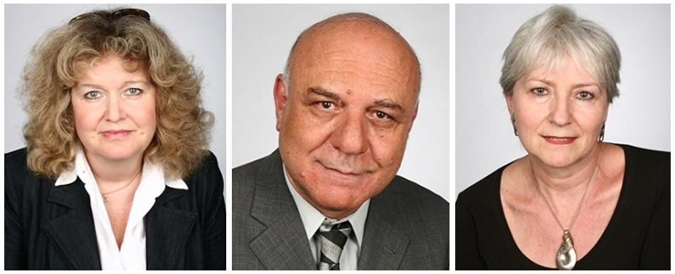 Vorstandssprecherin Barbara Traub M.A., Vorstandsmitglied Michael Kashi und Vorstandsmitglied Susanne Jakubowski (v.l.n.r.)