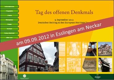 Tag des offenen Denkmals 2012 - Besichtigung des IRGW-Gemeindezentrums in Esslingen (Im Heppächer 3) möglich