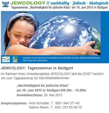 JEWCOLOGY // nachhaltig - jüdisch - ökologisch   ZWST-Tagesseminar