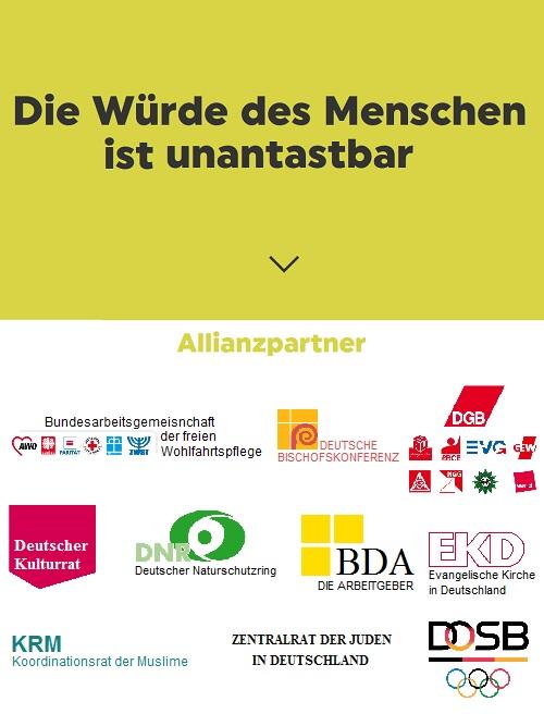 Allianz f�r Weltoffenheit