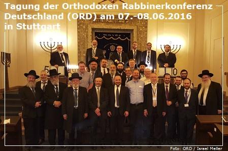 Jahresmitgliederversammlung der Orthodoxen Rabbinerkonferenz Deutschland (ORD) 2016 - 5776 in Stuttgart