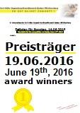 Preistr�ger/innen des ersten Wettbewerbstags, Sonntag, 19.06.2016