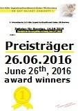 Preistr�ger des zweiten Wettbewerbstags, Sonntag, 26.06.2016