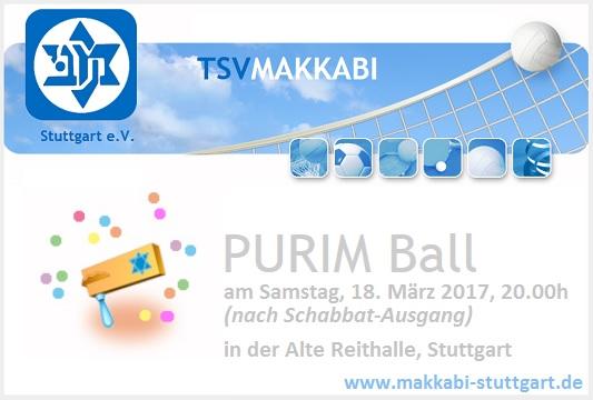 Purim-Ball des TSV Makkabi Stuttgart e.V.