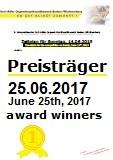 Gewinner erster Wettbewerbstag 25.06.2017