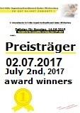 Gewinner zweiter Wettbewerbstag 02.07.2017