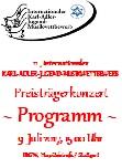 Programm Preisträgerkonzert 11., int. Karl-Adler-Jugendmusikwettbewerb am Sonntag, 09.07.2017, 15.00 Uhr, IRGW-Gemeindezentrum Hospitalstraße/Stuttgart