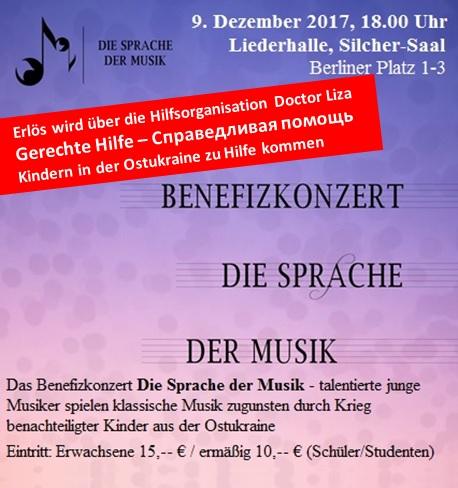 Benefizkonzert Die Sprache der Musik