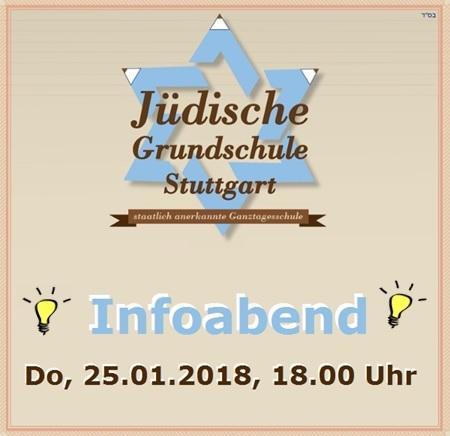 Infoabend der Jüdischen Grundschule Stuttgart (JGS) am Do, 25.01.2018, 18.00 Uhr