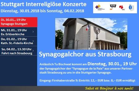 Synagogalchor aus Strasbourg - Aus unserer Partnerstadt Strasbourg kommt anlässlich Tu Bischwat der Synagogalchor der