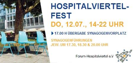 Hospitalviertelfest mit Übergabe des Synagogenvorplatzes an die Öffentlichkeit am Donnerstag, 12. Juli 2018