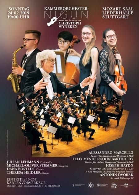Kammerorchester Nigun e.V. - Sonntag, 24.02.2019, 19.00 Uhr, Liederhalle Stuttgart, Mozartsaal - Save The Date