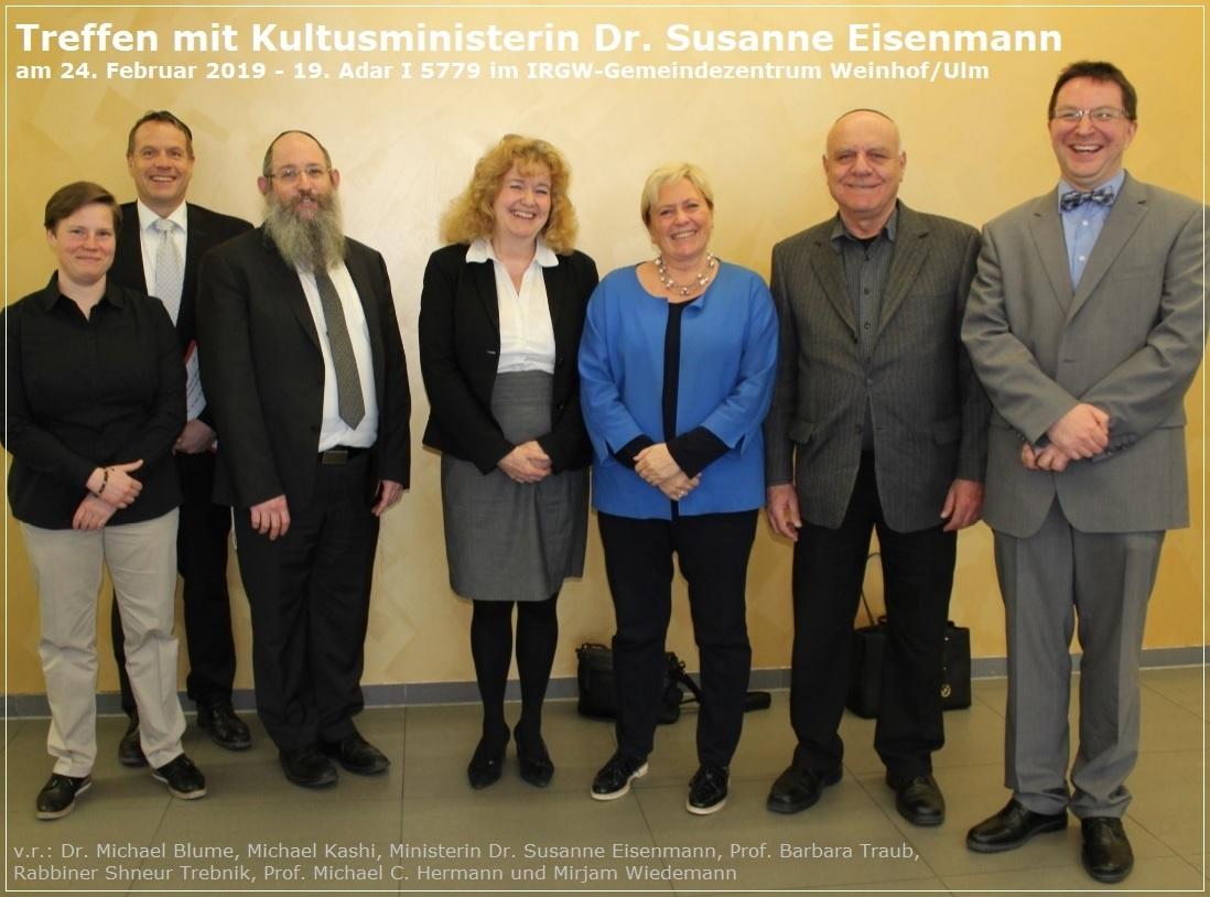 Ulm, 24.02.2019 - Treffen mit Kultusministerin Dr. Susanne Eisenmann