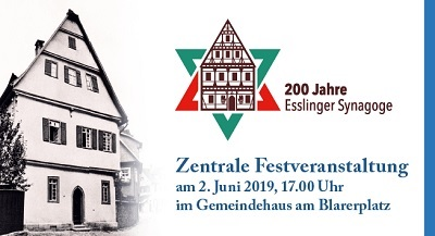Esslinger Synagoge wird 200 Jahre alt - Festakt am 2. Juni