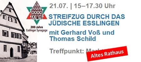 200 Jahre Synagoge Esslingen - ACHTUNG: Treffpunkt ist das Alte Rathaus