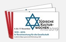Flyer zu den Jüdischen Kulturwochen 2019 in Stuttgart