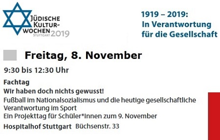 Jüdische Kulturwochen 2019 | 1919 - 2019: In Verantwortung für die Gesellschaft
