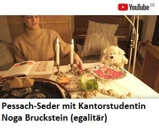 Pessach-Seder mit Kantorstudentin Noga Brockstein (egalitär, in deutscher Sprache)