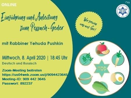 Online-Einführung und -Anleitung zum Pessach-Seder mit Rabbiner Yehuda Pushkin