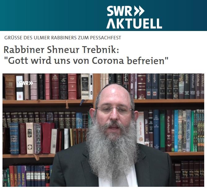 Grußbotschaft von Rabbiner Shneur Trebnik zu Pessach