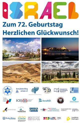 Wir können den Israeltag aufgrund der aktuellen Krise leider nicht als öffentliche Veranstaltung in Stuttgart feiern. Umso herzlicher gratulieren wir gemeinsam mit diesem Gruß. Wir wünschen Israel und seinen Bürgerinnen und Bürgern Gesundheit und ein Leben in Frieden und Sicherheit.