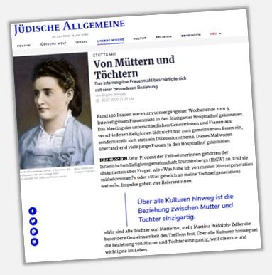 Jüdische Allgemeine (30.07.2020): Von Müttern und Töchtern
