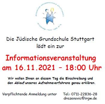Einladung zum Infoabend der JGS