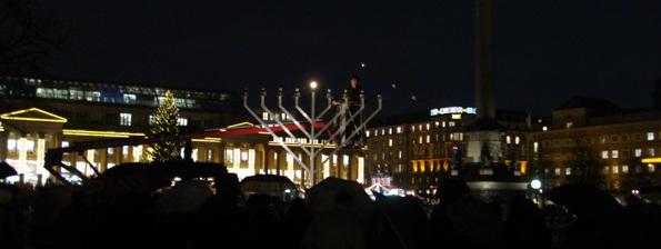 Gemeinsames Lichterzünden in Stuttgart am 7. Dezember 2010 - 1 Tewet 5771