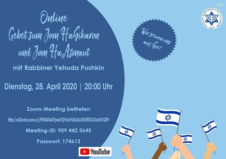Online-Gebet zum Jom HaSikaron und Jom HaAzmaut
