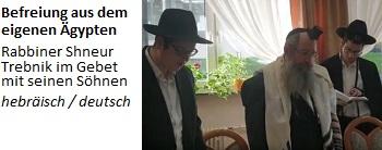 Befreiung aus dem eigenen Ägypten - Rabbiner Shneur Trebnik im Gebet mit seinen Söhnen